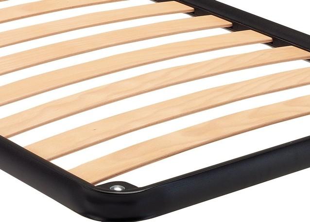 Rete singola con doghe in legno - Vendita on line di letti in ferro ...