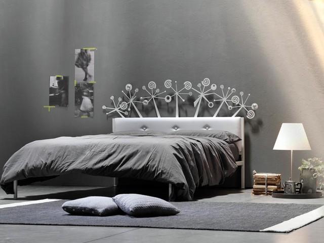 Letto moonflower imbottito vendita on line di lettiin for Letti a castello in ferro battuto