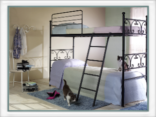 lits superpos s et canap lit vente on line lits en fer. Black Bedroom Furniture Sets. Home Design Ideas