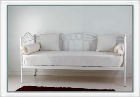 Divano letto flora vendita on line di letti in ferro - Divano ferro battuto ...