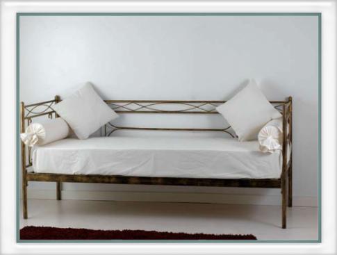 Divano letto penelope vendita on line di letti in ferro - Divano ferro battuto ...